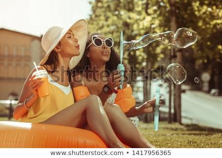 Bonitinho jovem menina ao ar livre Foto stock © feverpitch