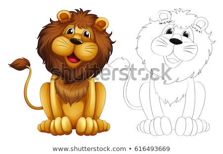 Doodles drafting animal for lion Stock photo © colematt