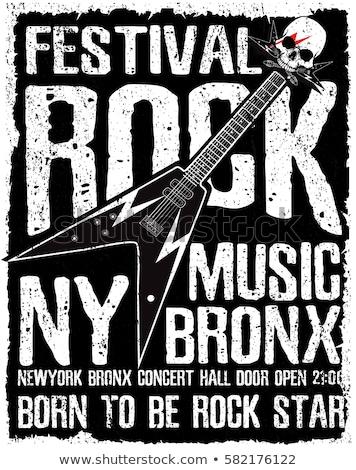 Rock-n-Roll Forever Denim Vector Illustration Stock photo © robuart