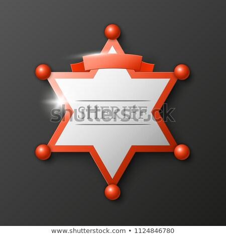 シェリフ · 星 · バッジ · ヴィンテージ · 刻ま · スタイル - ストックフォト © pikepicture