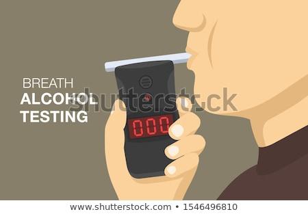Stockfoto: Bestuurder · alcohol · man · vergadering · fles · weg