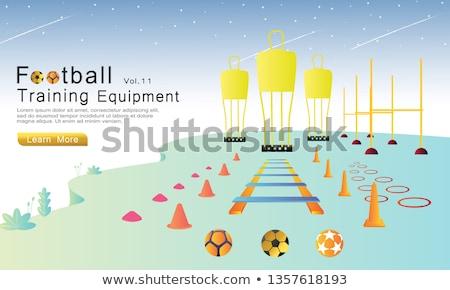 Foto stock: ícone · futebol · treinamento · fino · linha · projeto