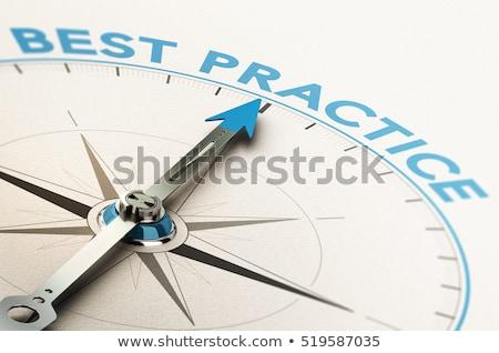 legjobb · gyakorlat · illusztráció · táblagép · kék · üzlet - stock fotó © mazirama