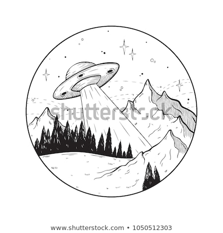 Color Sketch UFO Stock photo © netkov1