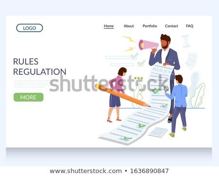 Business rule concept landing page. Stock photo © RAStudio