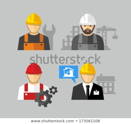 Foreman on construction flat design Stock photo © jossdiim