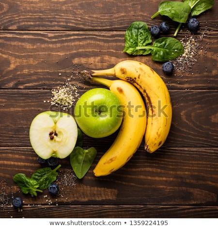 zöld · smoothie · tál · gyümölcs · háttér · ital · szín - stock fotó © melnyk