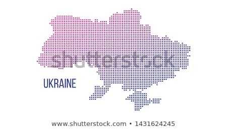 ウクライナ 国 地図 抽象的な ハーフトーン ストックフォト © kyryloff