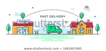 Icon of delivery van which symbolizes local delivery service Stock photo © ussr