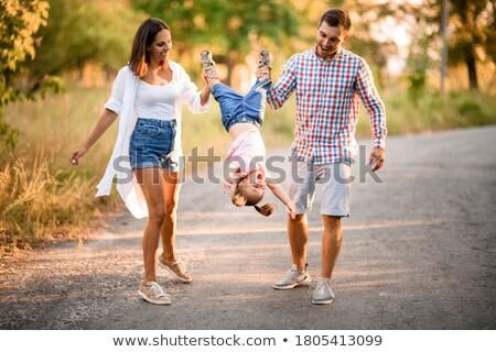 отец матери дочь весело Swing семьи Сток-фото © Lopolo