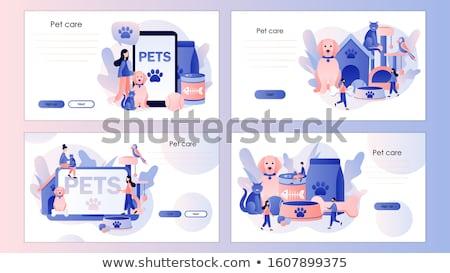 Pet services concept landing page Stock photo © RAStudio