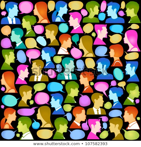Business Meeting of People Seamless Pattern Vector Stock photo © robuart