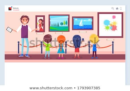 Szervezet gyerekek weboldal vektor tanár akasztás Stock fotó © robuart