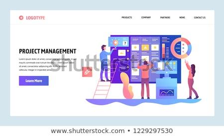 planning · moderne · vector · cartoon · business - stockfoto © rastudio