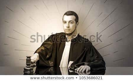 молодые судья решение символ Сток-фото © ra2studio