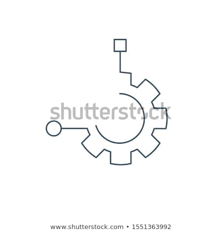 Function Technology logo. Linear Cog, gear icon. Stock Vector illustration isolated on white backgro Stock photo © kyryloff