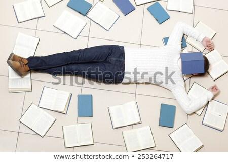 uczeń · snem · zmęczony · książek · papieru · oczy - zdjęcia stock © vladacanon