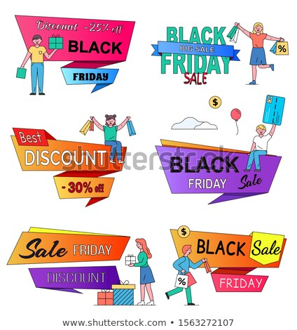 Man near Caption, Best Discount Offers on Big Sale Stock photo © robuart