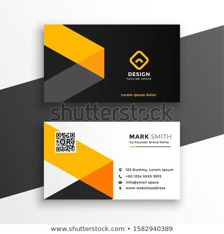 Sarı kartvizit modern şablon dizayn ofis Stok fotoğraf © SArts