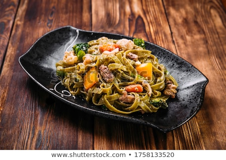 Spinach fettuccine  Stock photo © Alex9500