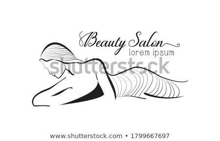 Csomagolás test fürdő eljárás szépségszalon vektor Stock fotó © robuart