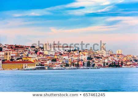Ufuk çizgisi Lizbon Portekiz köprü Bina Stok fotoğraf © neirfy