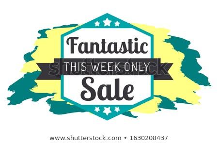 Fantastisch verkoop sterren label week Stockfoto © robuart
