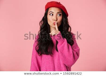 изображение молодые азиатских девушки берет Сток-фото © deandrobot
