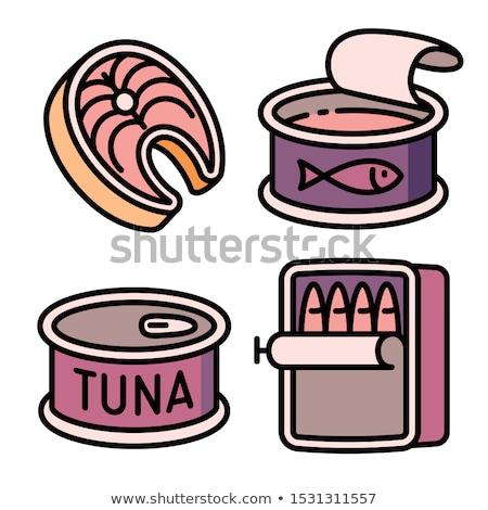 Proteína pueden icono vector ilustración Foto stock © pikepicture
