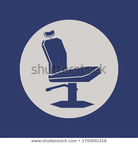 Barber Shop Armchair Icon Outline Illustration Stock photo © pikepicture