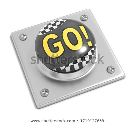 Carreras botón blanco bandera amarillo Foto stock © make