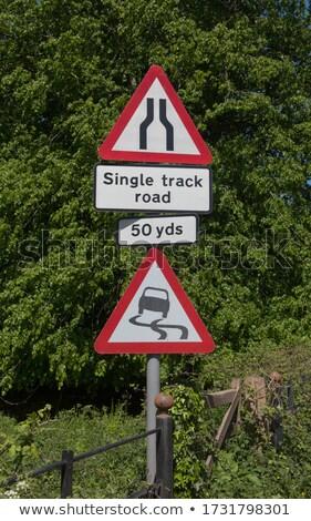 Narrow single lane English countryside road. Stock photo © latent