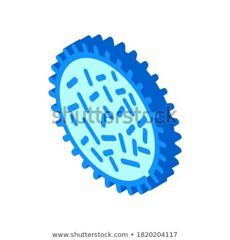 Unhealthy Bacillus Bacteria isometric icon vector illustration Stock photo © pikepicture
