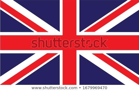 британский флаг флаг Гранж иллюстрация Великобритания белый Сток-фото © claudiodivizia