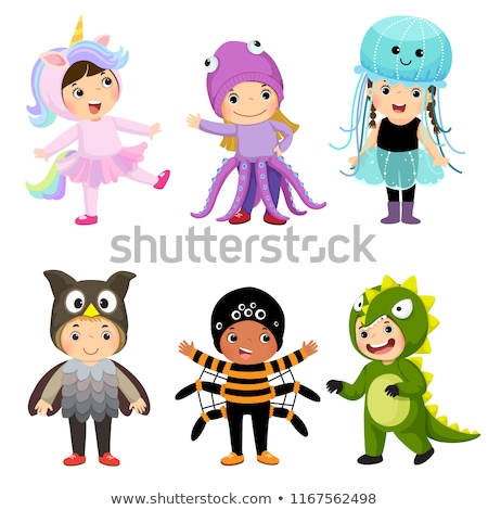 Bonitinho animal traje conjunto crianças Foto stock © DamonAce