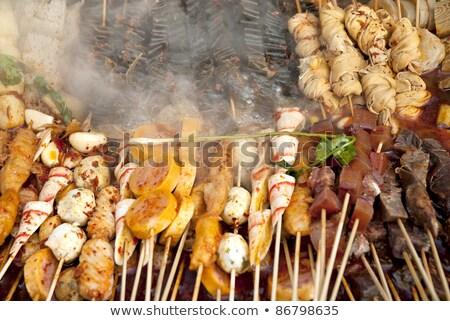 Chinese snacks koken Sjanghai China gemengd Stockfoto © travelphotography