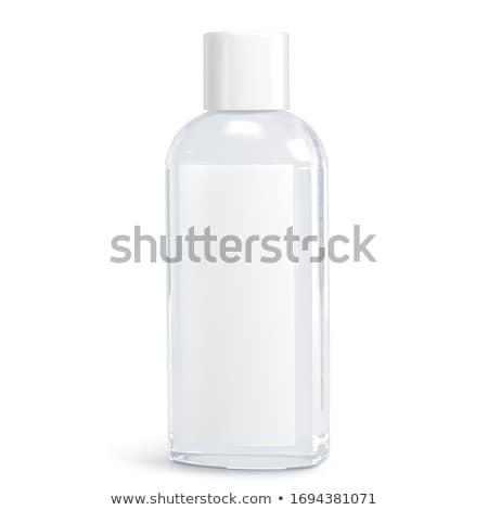 Stock fotó: Műanyag · üveg · szappan · sampon · címke · izolált