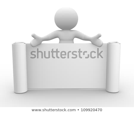 3d Human With Blank Label For Text And Symbol Stock fotó © CoraMax
