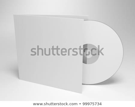 Сток-фото: компакт-диск · охватывать · изолированный · белый · компьютер · музыку