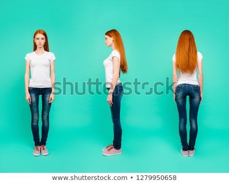 retrato · mulher · jovem · branco - foto stock © stockyimages