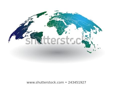 Zöld globális kommunikáció sok megvilágított rost optikai Stock fotó © 72soul