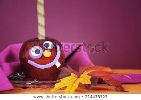 toffee apple on black background Stock photo © M-studio