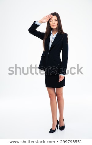 zakenvrouw · witte · portret · gelukkig · leuk · bal - stockfoto © feedough