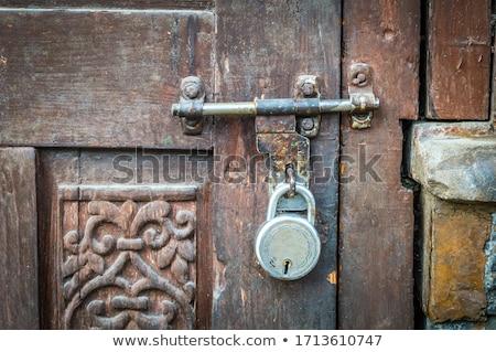 Velho fechado porta trancar trancado escuro Foto stock © ziprashantzi