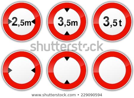 Width traffic limit signal Stock photo © ajlber