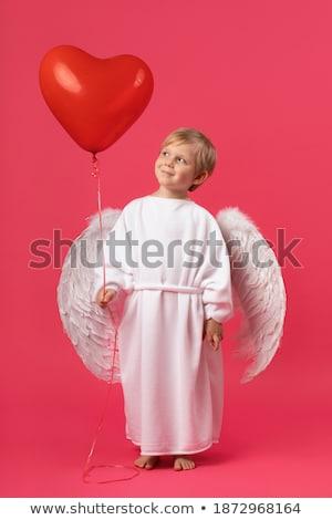 босиком ангела фотография без верха девушки белый Сток-фото © dolgachov