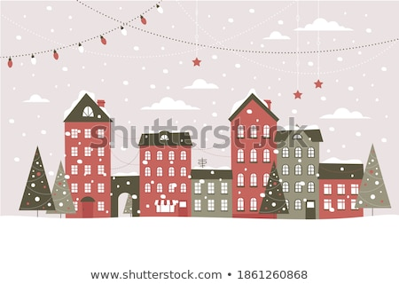 Stock photo: winter town
