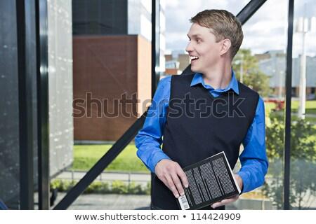 Professor alguém alegre sorrir livro fundo Foto stock © vetdoctor