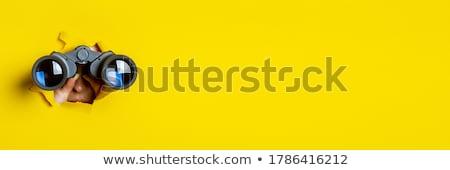 Jumelles isolé blanche recherche objet voir Photo stock © HectorSnchz
