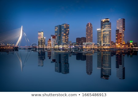 Maas and skyline Rotterdam Stock photo © Hofmeester